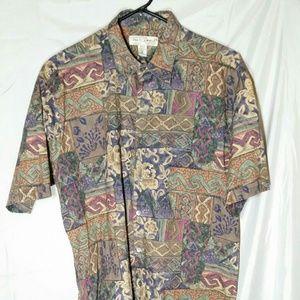 Tori Richard Honolulu Hawaiian Camp Tribal Shirt